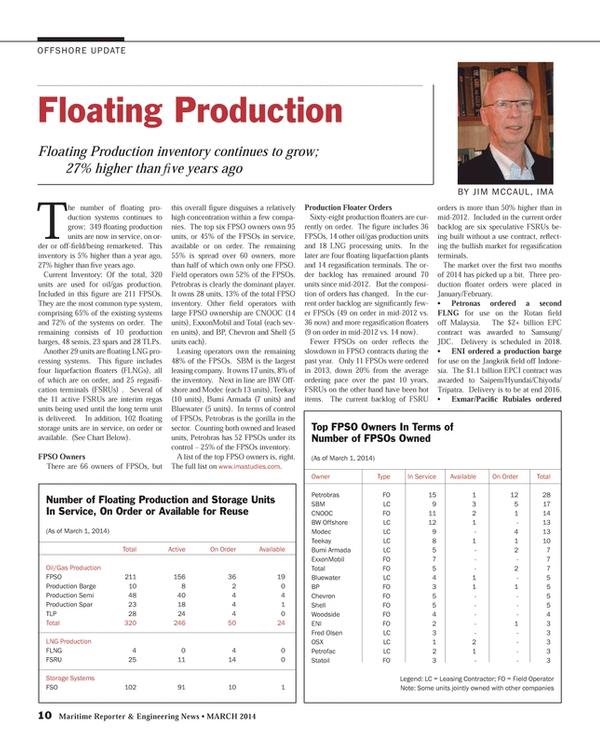Maritime Reporter Magazine, page 10,  Mar 2014 EPC