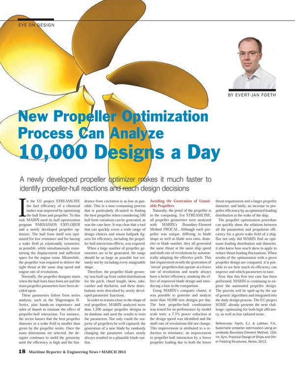 Maritime Reporter Magazine, page 18,  Mar 2014 genetic algorithms
