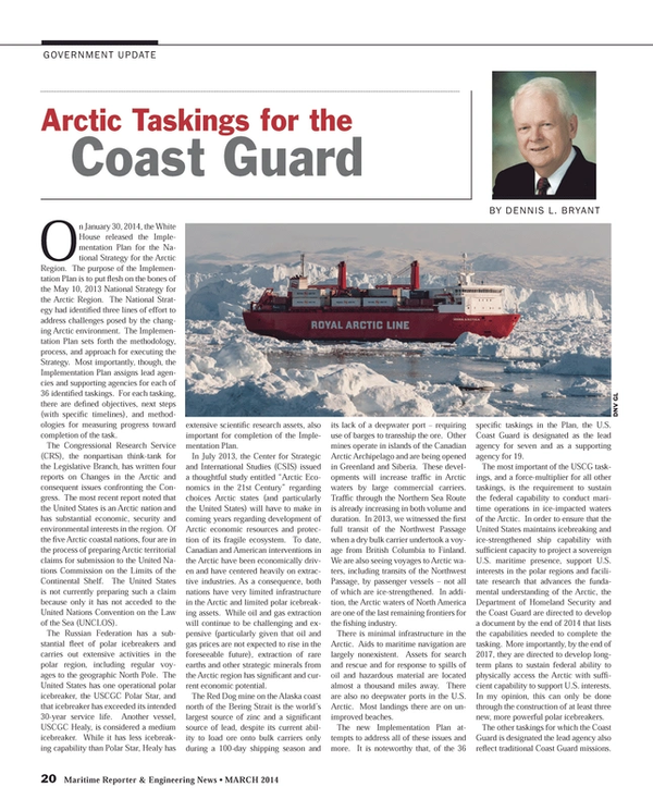 Maritime Reporter Magazine, page 20,  Mar 2014