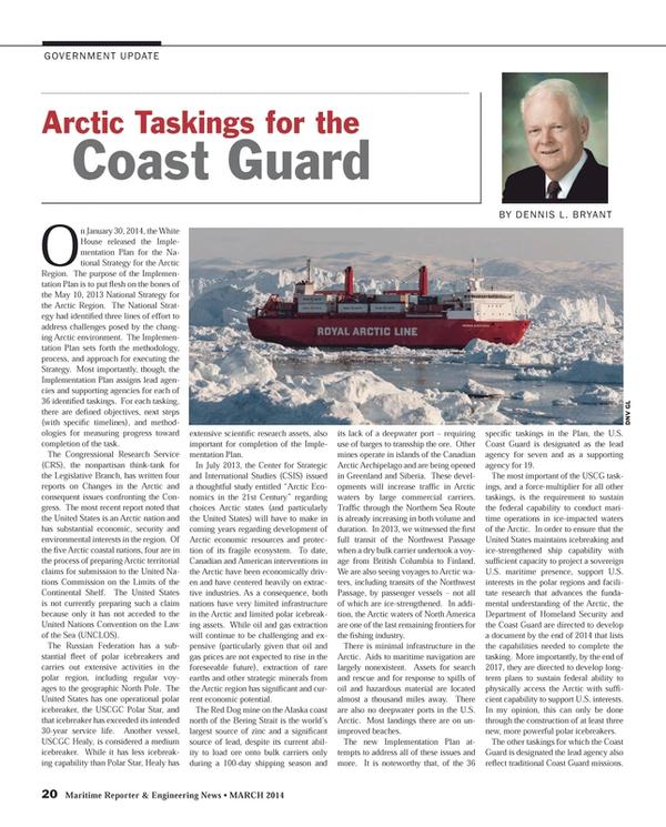 Maritime Reporter Magazine, page 20,  Mar 2014