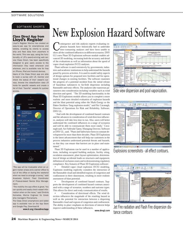 Maritime Reporter Magazine, page 24,  Mar 2014
