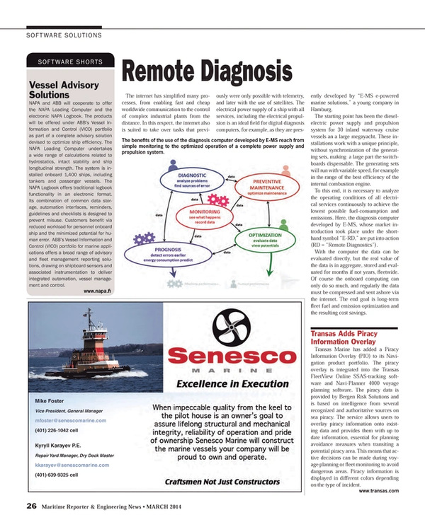 Maritime Reporter Magazine, page 26,  Mar 2014 Kyryll Karayev