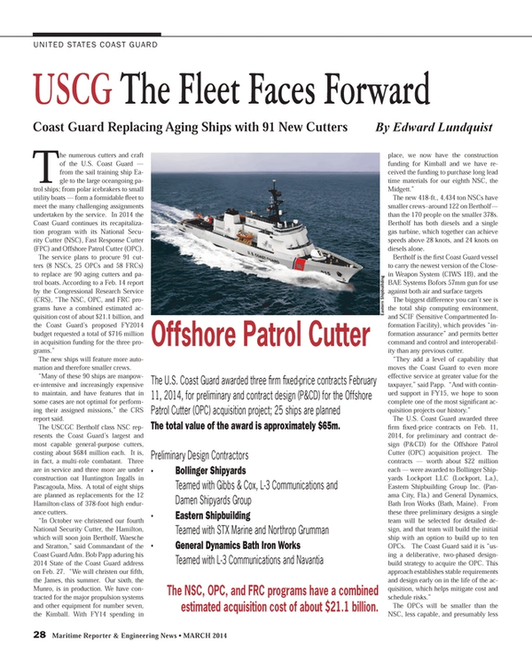 Maritime Reporter Magazine, page 28,  Mar 2014