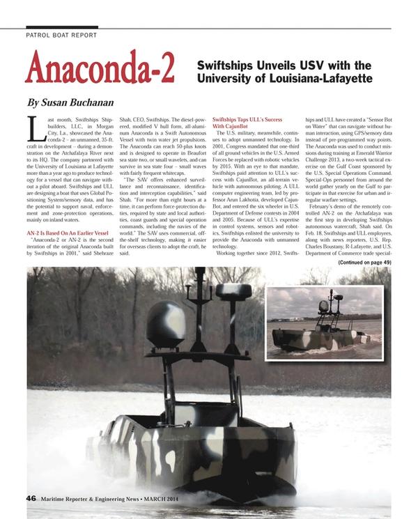 Maritime Reporter Magazine, page 46,  Mar 2014