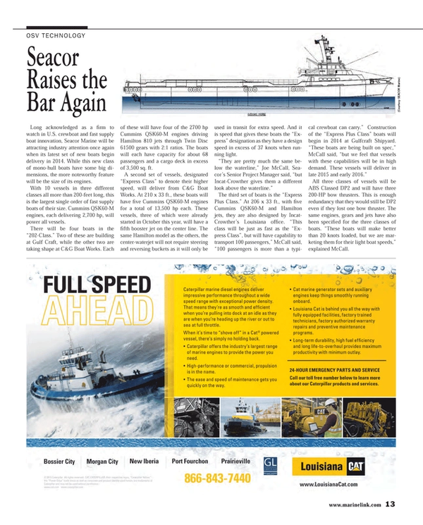 Maritime Reporter Magazine, page 13,  Apr 2014
