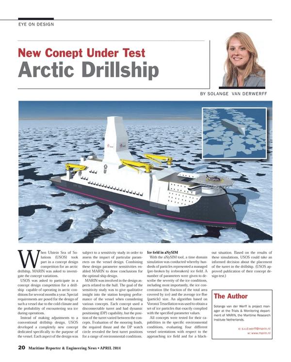 Maritime Reporter Magazine, page 20,  Apr 2014