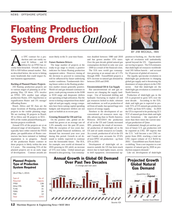 Maritime Reporter Magazine, page 12,  May 2014