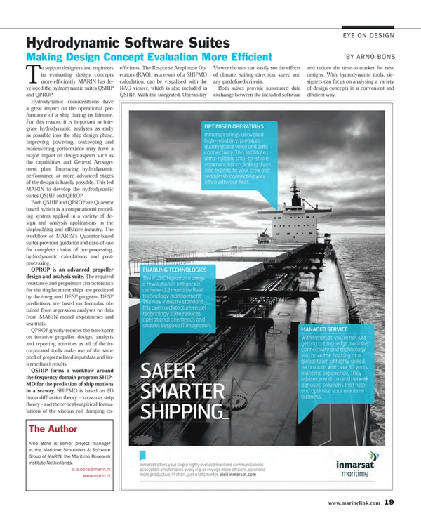 Maritime Reporter Magazine, page 19,  May 2014