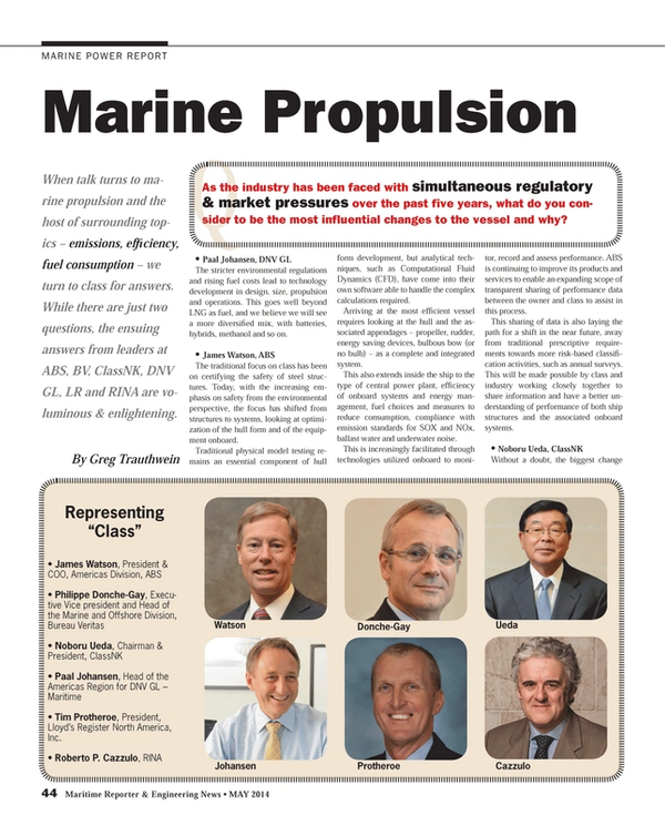 Maritime Reporter Magazine, page 44,  May 2014