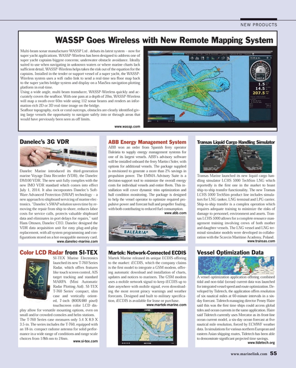Maritime Reporter Magazine, page 55,  May 2014 T-760
