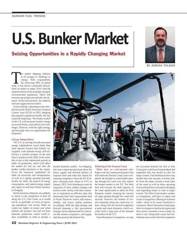 Maritime Reporter Magazine, page 22,  Jun 2014 Adrian Tolson