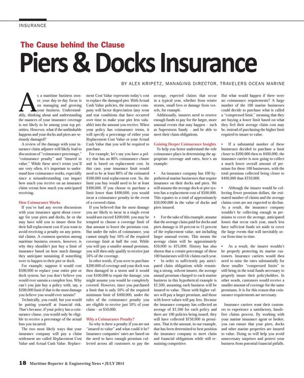 Maritime Reporter Magazine, page 18,  Jul 2014