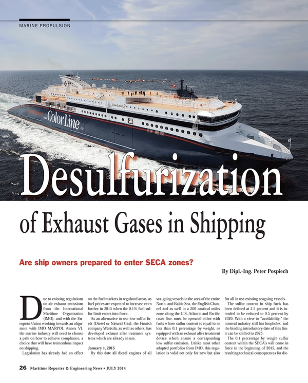 Maritime Reporter Magazine, page 26,  Jul 2014 United Nations