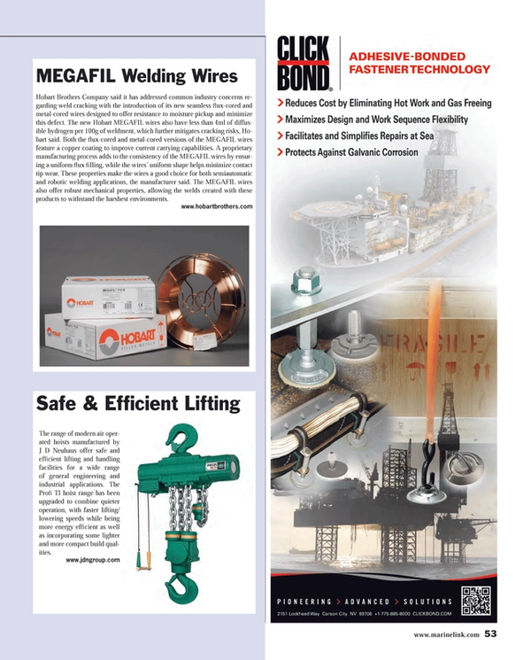 Maritime Reporter Magazine, page 53,  Jul 2014 industrial applications