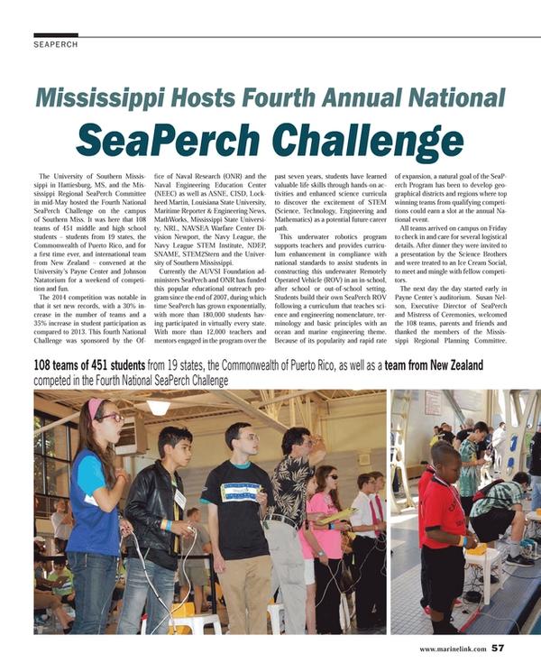 Maritime Reporter Magazine, page 57,  Jul 2014 Susan Nel