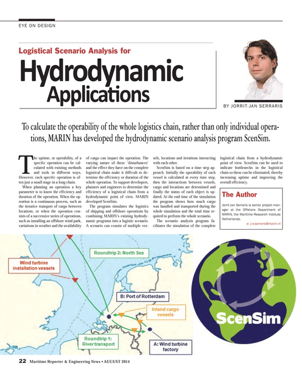 Maritime Reporter Magazine, page 22,  Aug 2014