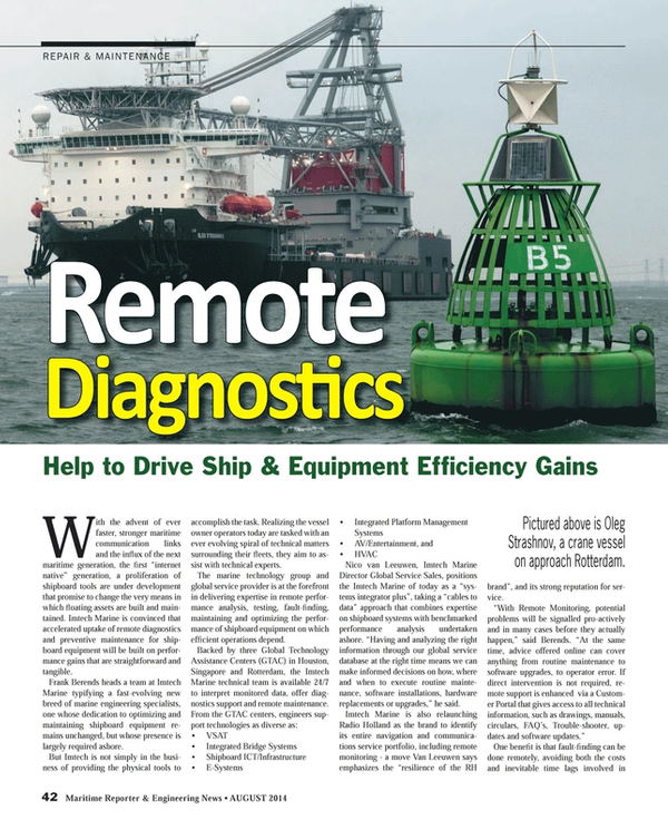 Maritime Reporter Magazine, page 42,  Aug 2014