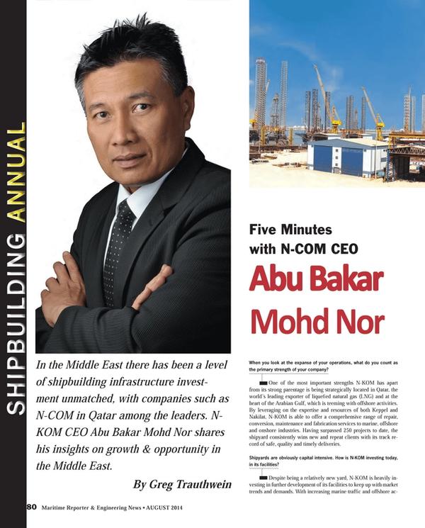Maritime Reporter Magazine, page 80,  Aug 2014