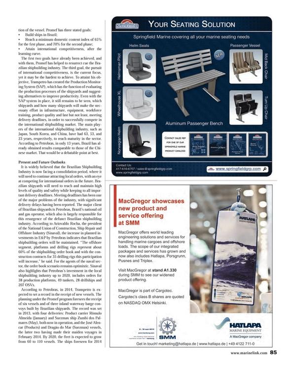 Maritime Reporter Magazine, page 85,  Aug 2014