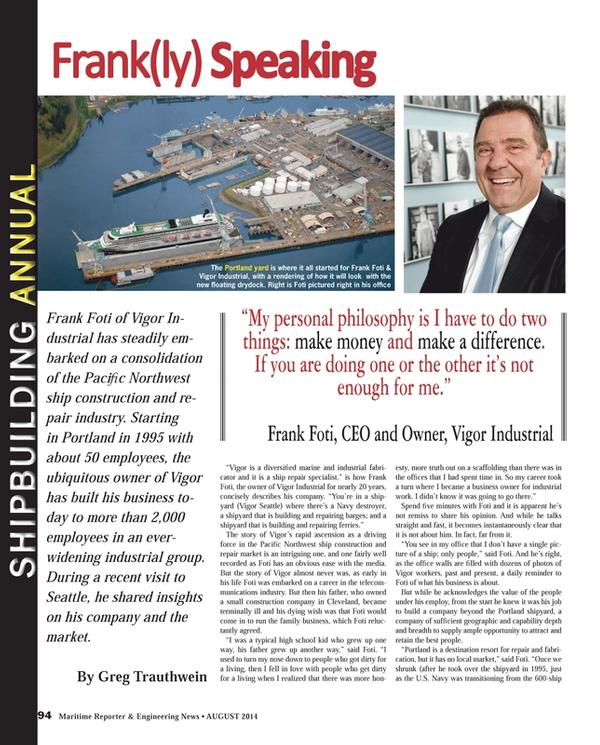 Maritime Reporter Magazine, page 94,  Aug 2014