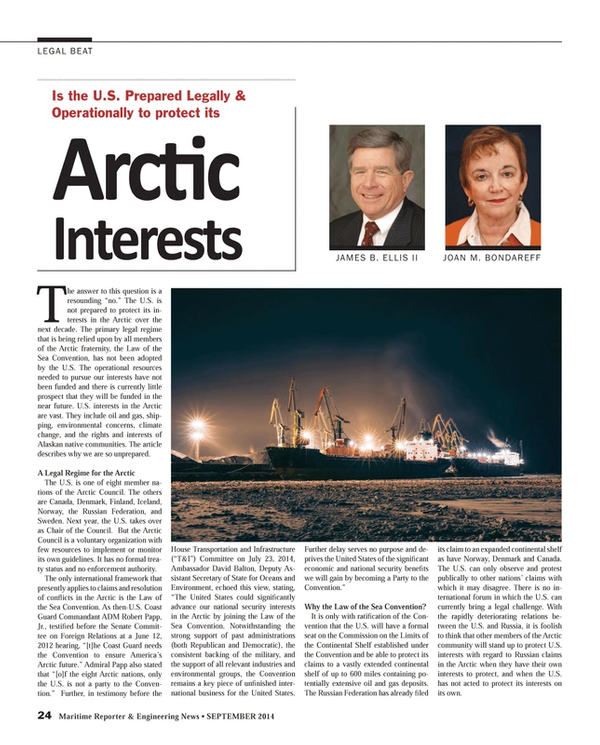 Maritime Reporter Magazine, page 24,  Sep 2014
