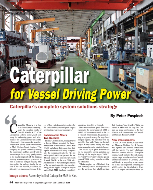 Maritime Reporter Magazine, page 46,  Sep 2014