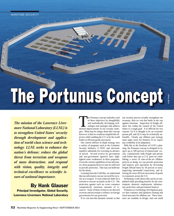 Maritime Reporter Magazine, page 52,  Sep 2014