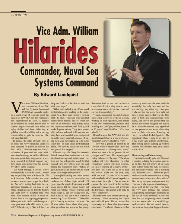 Maritime Reporter Magazine, page 56,  Sep 2014