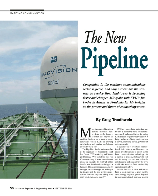 Maritime Reporter Magazine, page 58,  Sep 2014