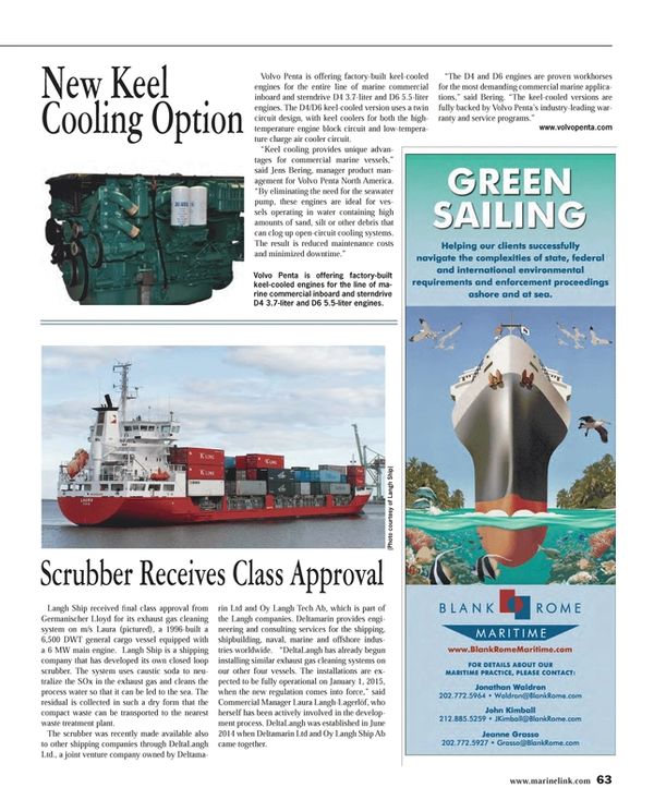 Maritime Reporter Magazine, page 63,  Sep 2014