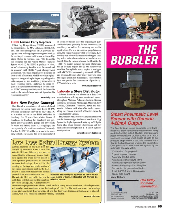 Maritime Reporter Magazine, page 65,  Sep 2014