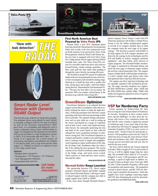Maritime Reporter Magazine, page 66,  Sep 2014