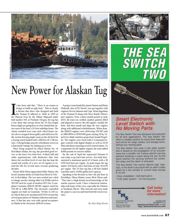 Maritime Reporter Magazine, page 67,  Sep 2014