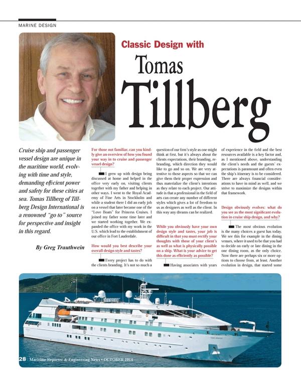 Maritime Reporter Magazine, page 28,  Oct 2014