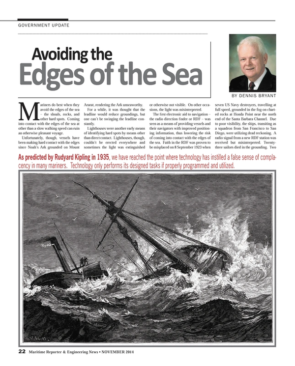 Maritime Reporter Magazine, page 22,  Nov 2014
