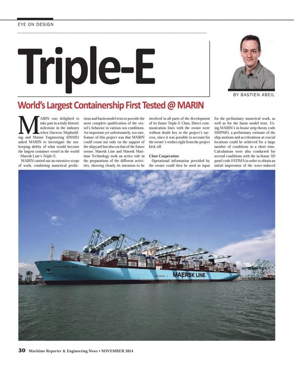 Maritime Reporter Magazine, page 30,  Nov 2014