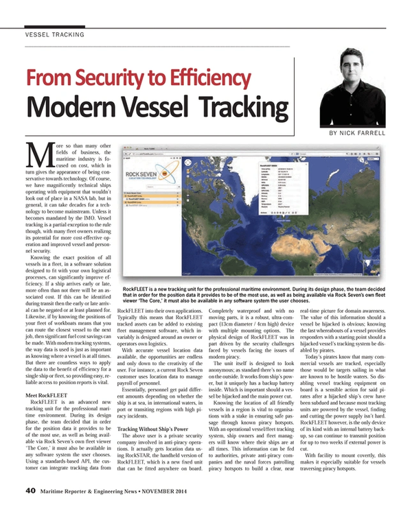 Maritime Reporter Magazine, page 40,  Nov 2014
