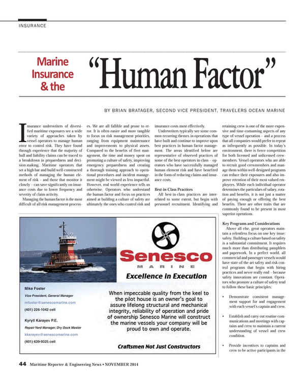 Maritime Reporter Magazine, page 44,  Nov 2014