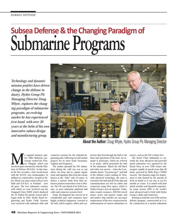 Maritime Reporter Magazine, page 48,  Nov 2014