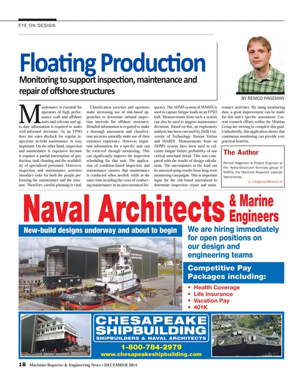 Maritime Reporter Magazine, page 18,  Dec 2014