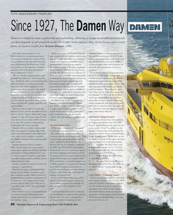 Maritime Reporter Magazine, page 30,  Dec 2014