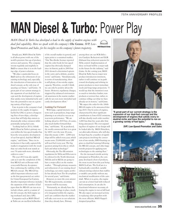 Maritime Reporter Magazine, page 35,  Dec 2014