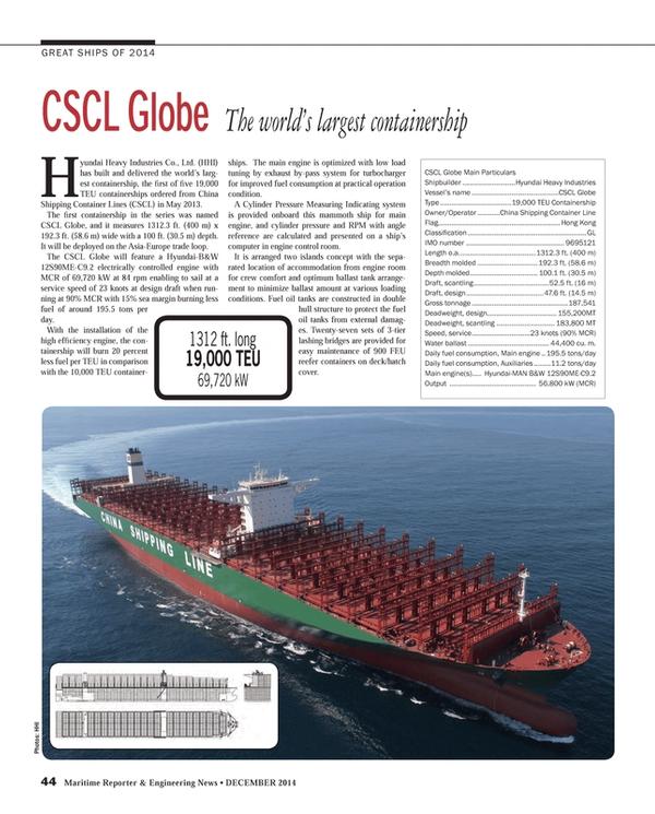 Maritime Reporter Magazine, page 44,  Dec 2014