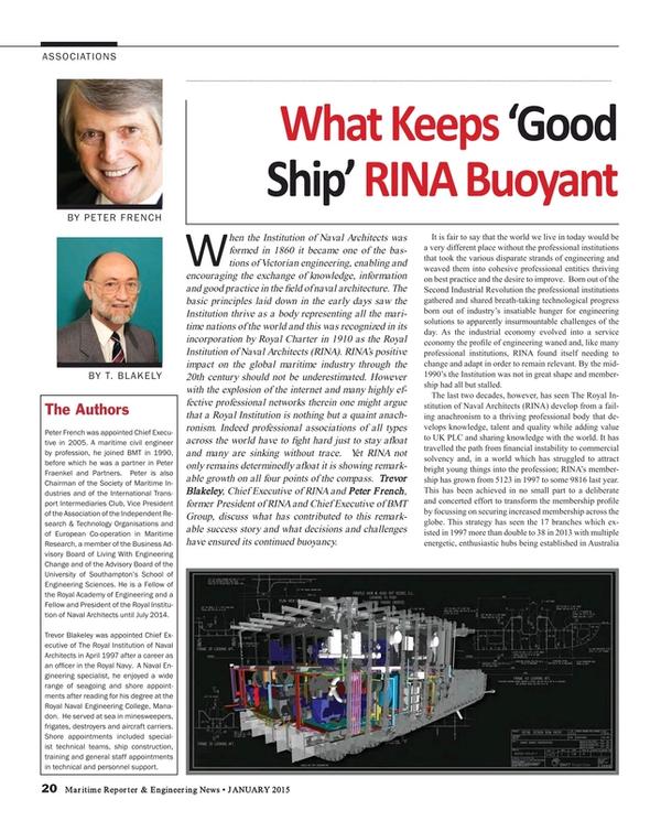 Maritime Reporter Magazine, page 20,  Jan 2015