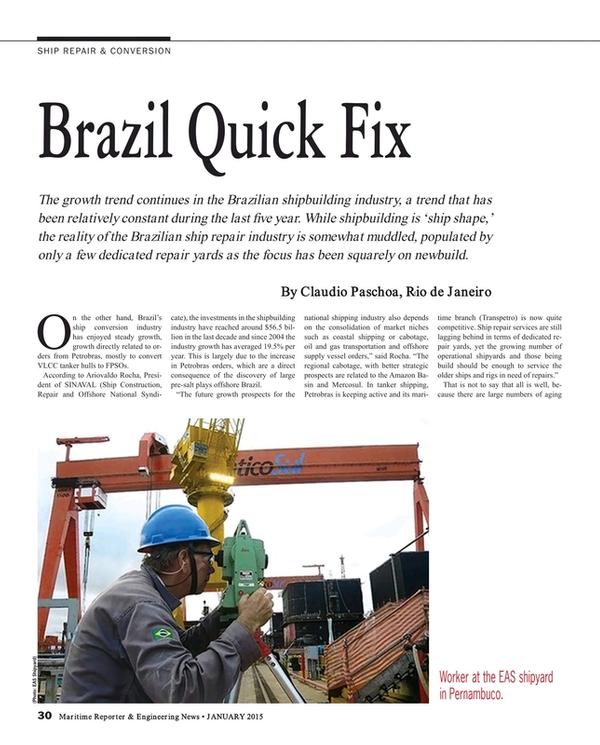 Maritime Reporter Magazine, page 30,  Jan 2015