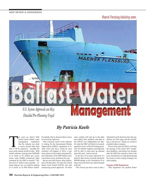 Maritime Reporter Magazine, page 34,  Jan 2015