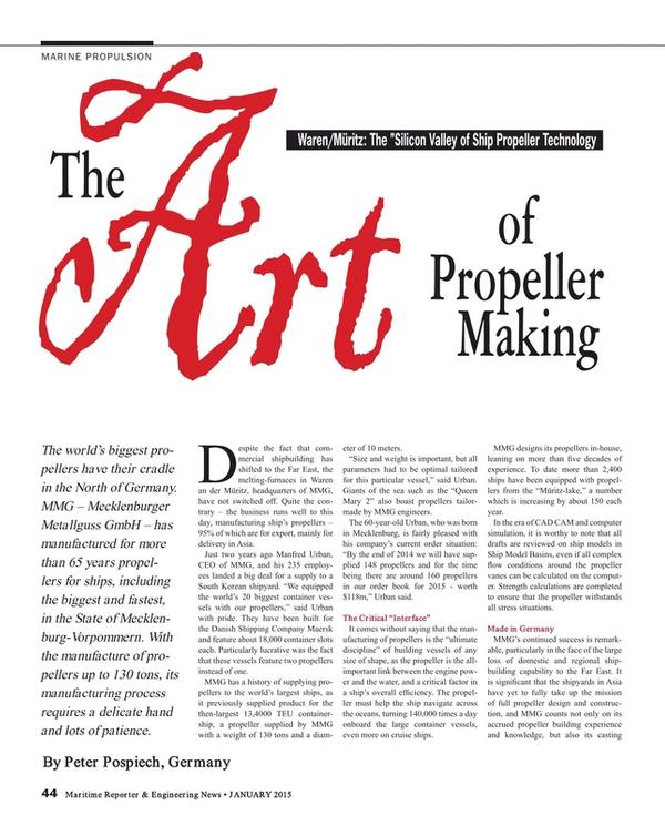 Maritime Reporter Magazine, page 44,  Jan 2015