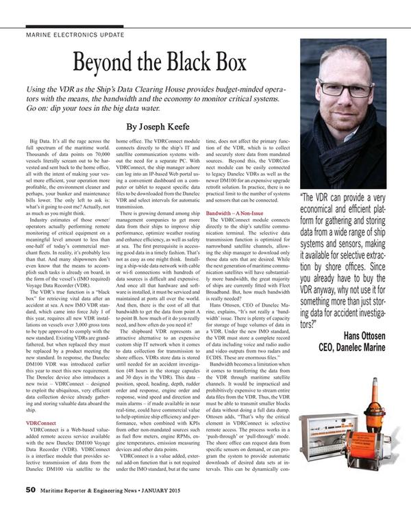 Maritime Reporter Magazine, page 50,  Jan 2015