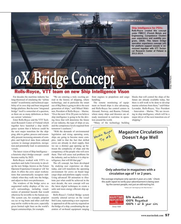 Maritime Reporter Magazine, page 57,  Jan 2015