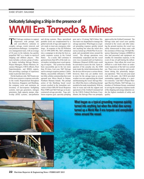 Maritime Reporter Magazine, page 22,  Feb 2015